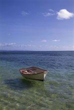 Fiji Boat on Clear Water